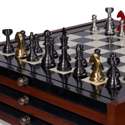 Authentic Models Chess Set Metal