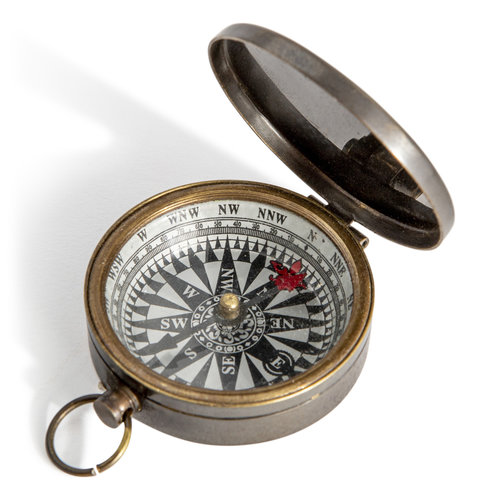 Authentic Models Small Compass Bronzed