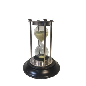 Authentic Models Silver 30 minute Hourglass