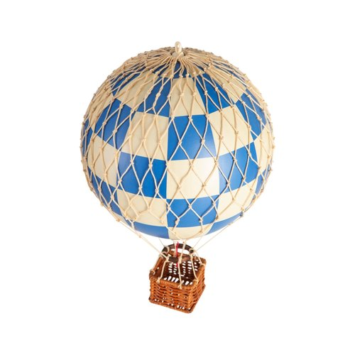 Authentic Models Luchtballon Check Blue - Small