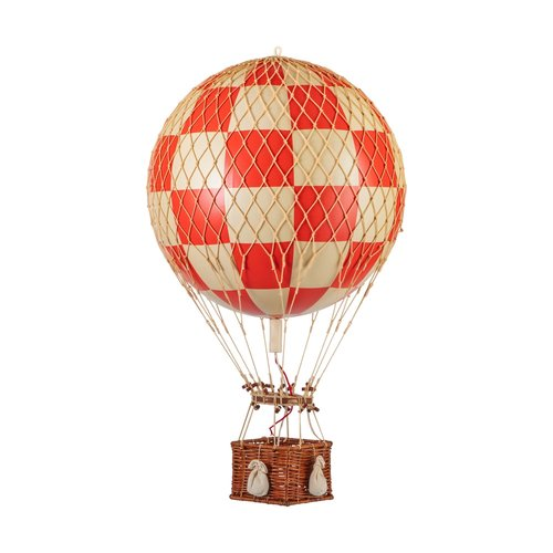 Authentic Models Luchtballon Check Red - Medium