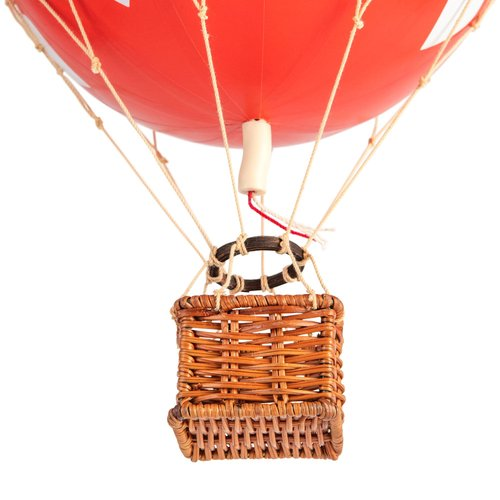 Authentic Models Luchtballon Red Hearts - Small