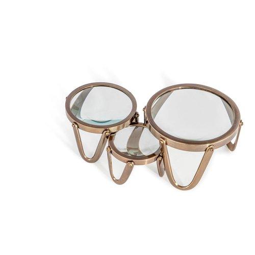 Authentic Models Desk Magnifier 3 Brass