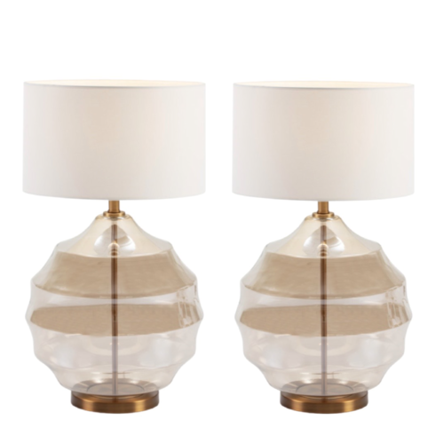 Crystal Lamps set of 2