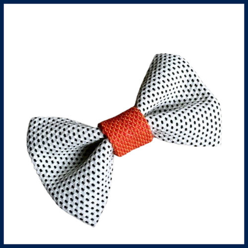 Renate Nederpel Bow Tie - Black/White/Orange