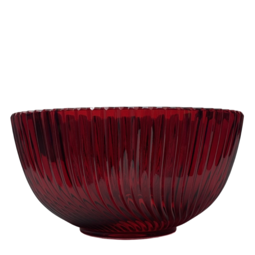 Polish Crystal Crystal Fruitbowl Red
