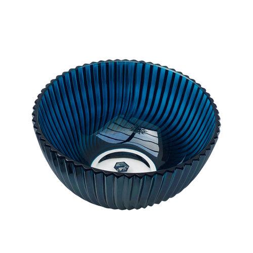 Polish Crystal Crystal Bowl Blue