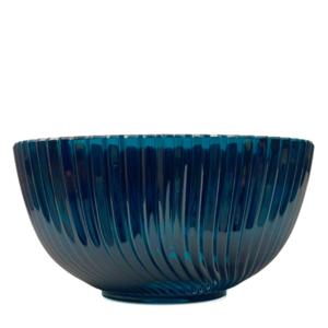 Polish Crystal Crystal Fruit Bowl Blue