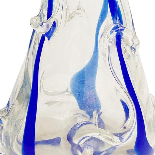 Entrepôt Holland Collection Art Nouveau Vintage Vase Blue