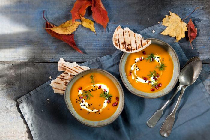 Soupe de citrouille avec gingembre & carottes