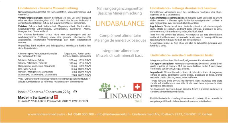 Lindabalance incl. bandes d'essai