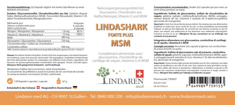 Lindashark Forte Plus MSM