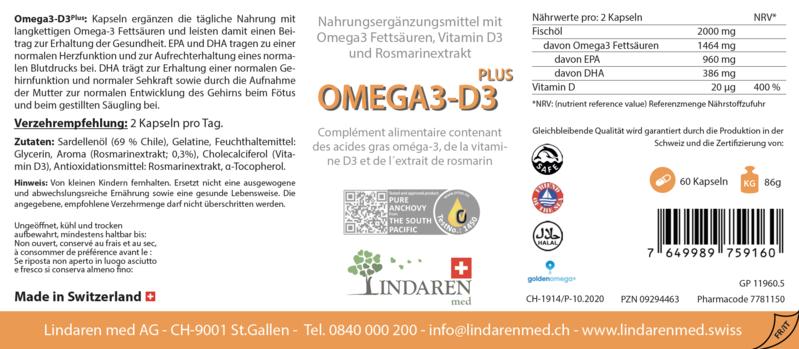 Pacchetto precauzionale con Omega-3 D3 Plus & prelievo di sangue capillari TAP Device