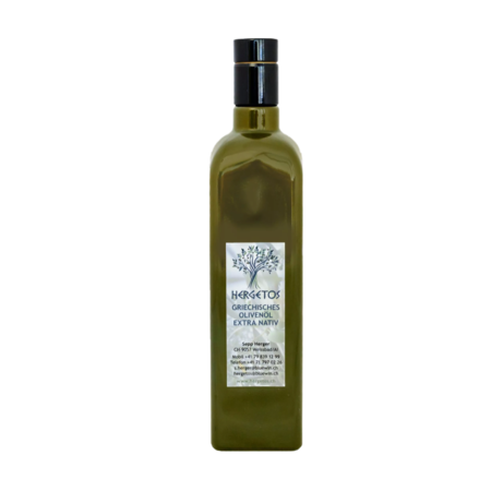 Hergetos 0,75l Bouteille d'huile d'olive Hergetos