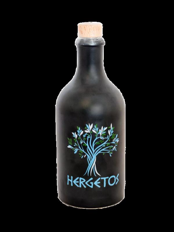 Hergetos 5dl Olio d'oliva Hergetos nella bottiglia di argilla