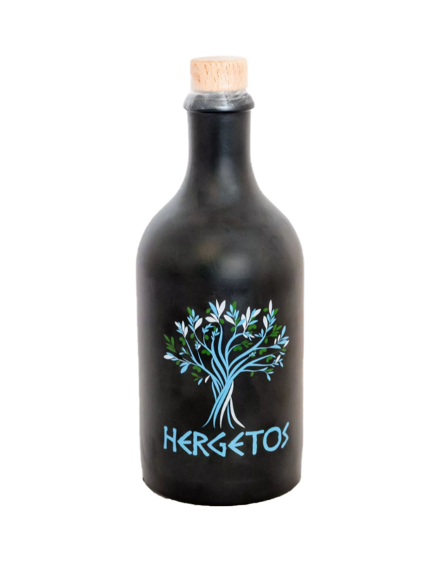 Hergetos Huile d'olive 5dl Hergeto dans la bouteille d'argile