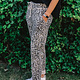 Joggingbroek met rode panterprint