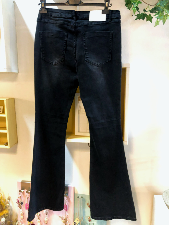 Casual zwarte flared jeans