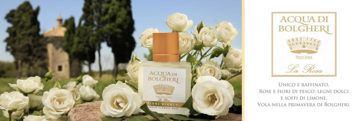 Een onweerstaanbare, krachtige en zoete geur van rozen en perzikbloemen. De geur is als een vlucht in de lente van Bolgheri
