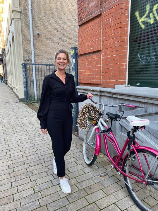 Zwarte elegante jumpsuit Luisa
