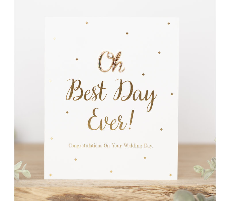 Oh, Best day ever! Congratulations on your wedding day