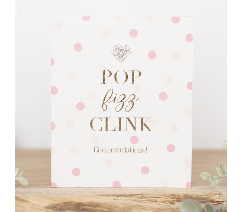 Pop fizz clink congratulations