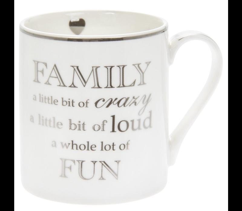 Family a little bit of crazy, a little bit of loud, a whole lot of fun