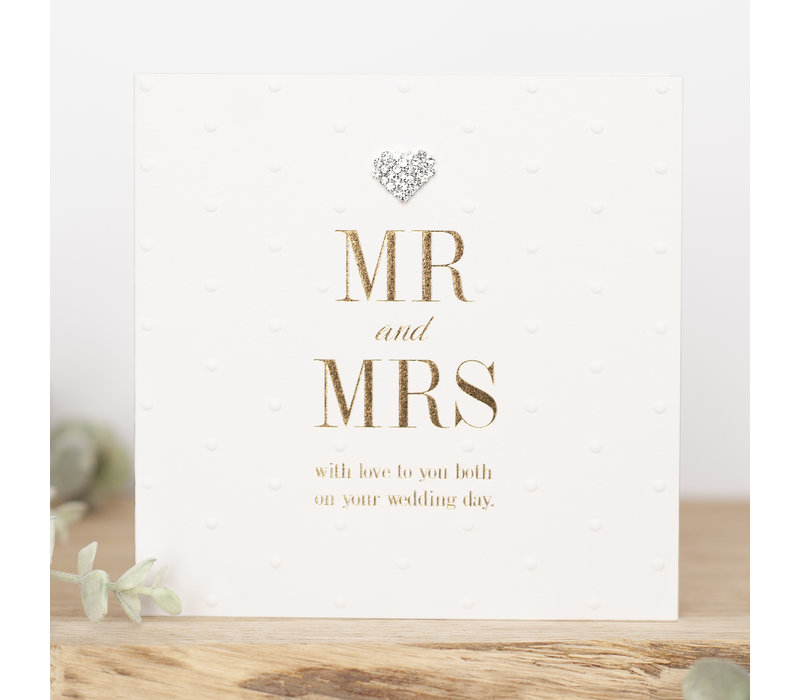 MR&MRS With love to you both on your wedding day