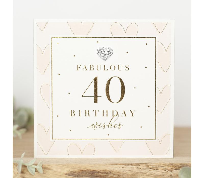 FABULOUS 40 birthday wishes
