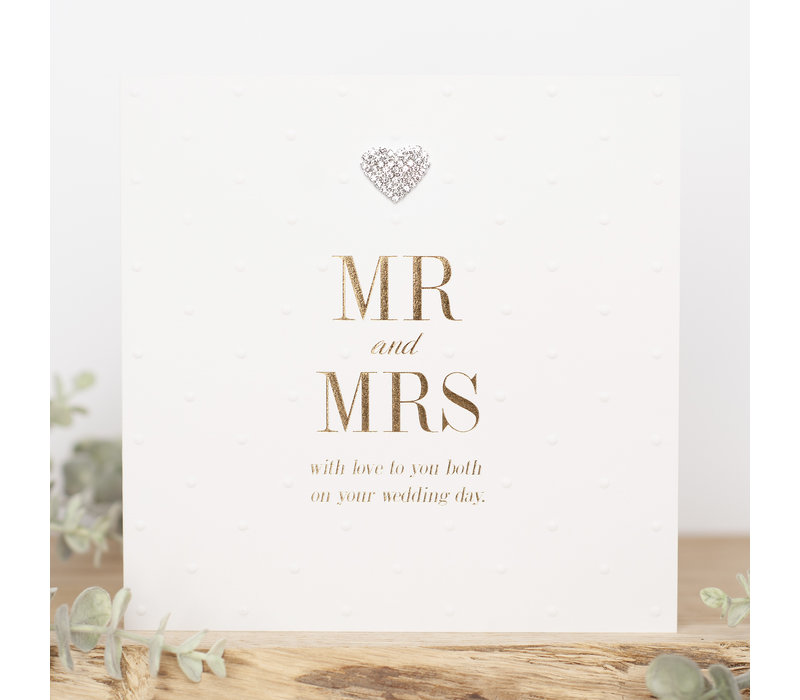Mr & mrs with love to you both on your wedding day