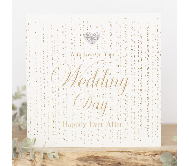 With love on your wedding day happily ever after