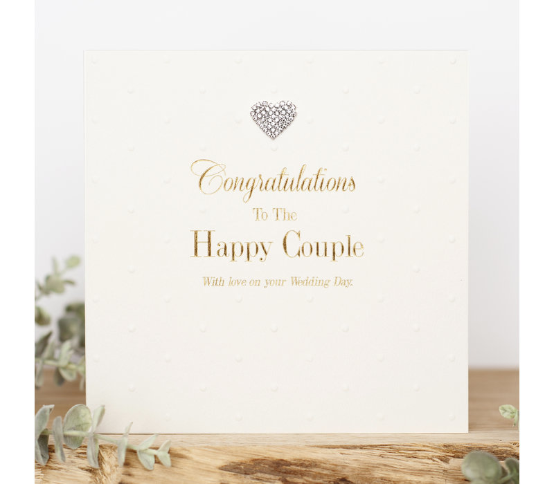 Congratulations to the happy couple with love on your wedding day