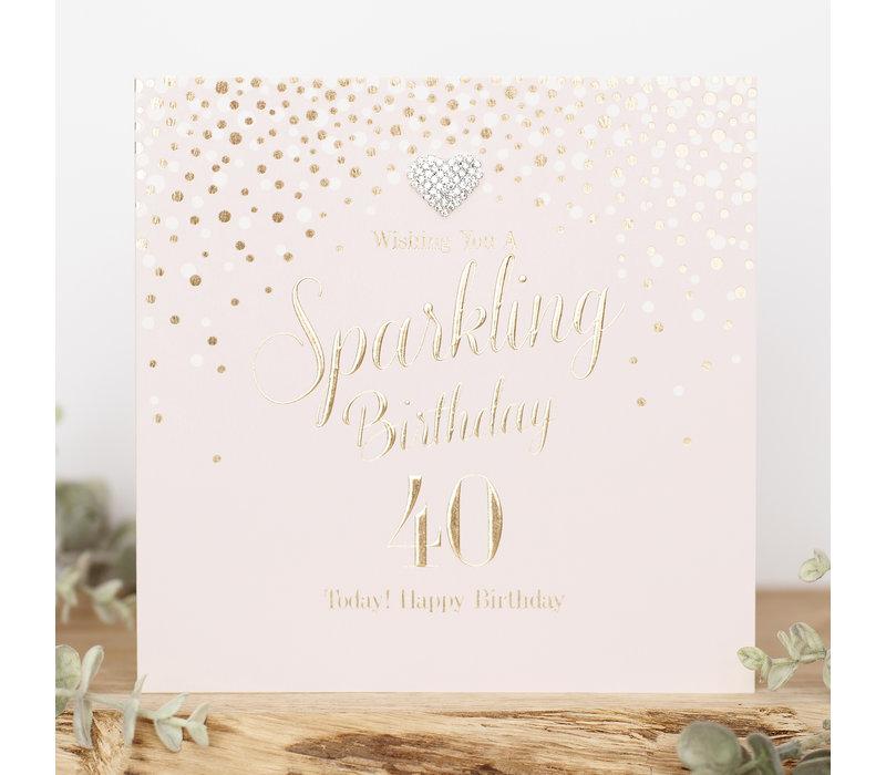 Wishing you a sparkling birthday 40 today! Happy birthday