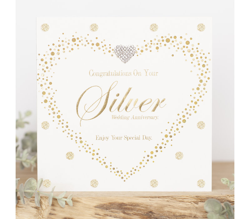 Congratulations on your silver wedding anniversary, enjoy your special day