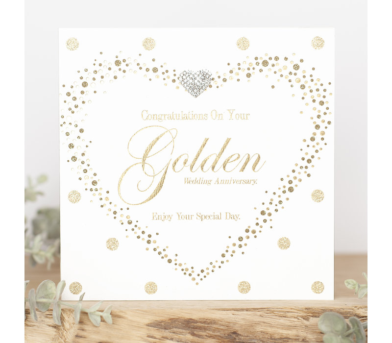 Congratulations on your golden anniversary, enjoy your special day