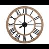 J-Line Ronde naturel houten klok
