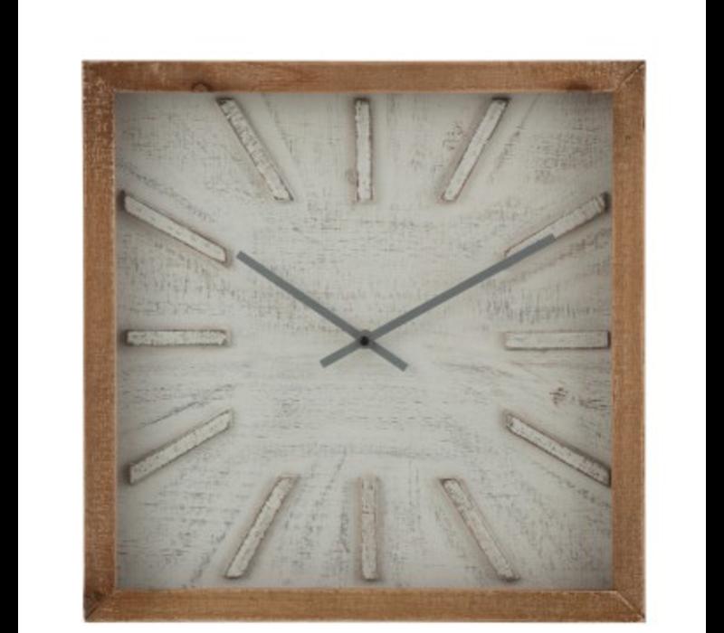 Vierkante houten klok