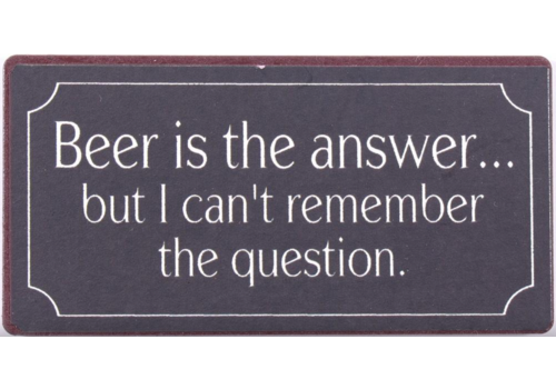 BEER THE ANSWER