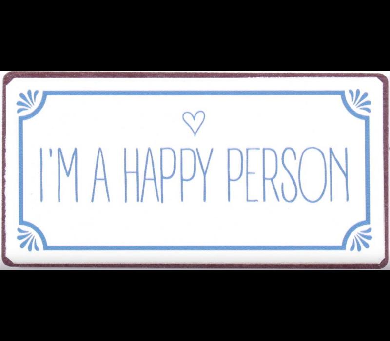 I'm a happy person