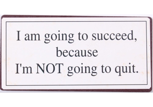 GOING TO SUCCEED