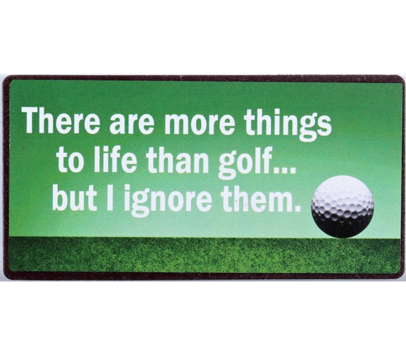 There are more things to life than golf... but I ignore them.