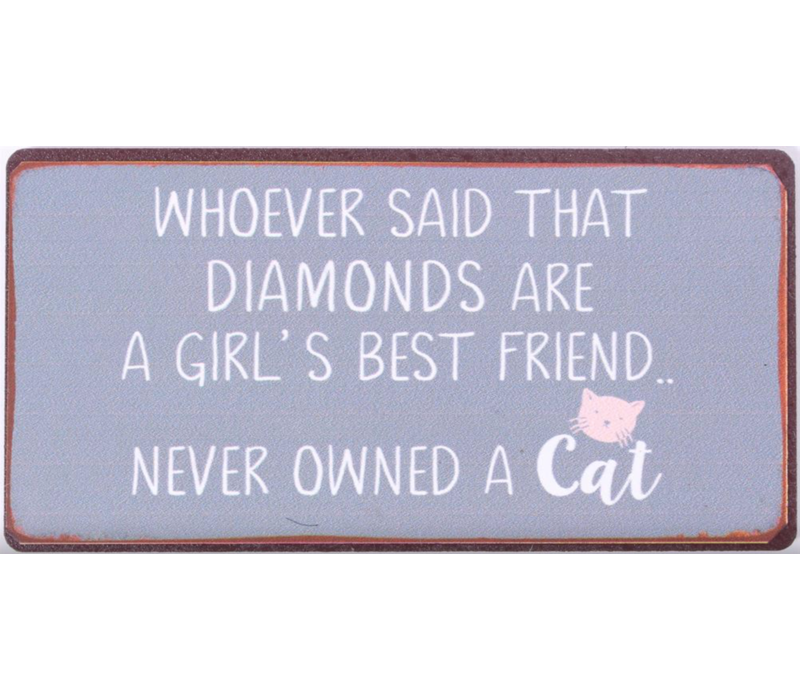Whoever said that diamonds are a girl's best friend... never owned a cat