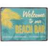 Welcome to our beach bar cocktails - sandwiches - ice cream - beer