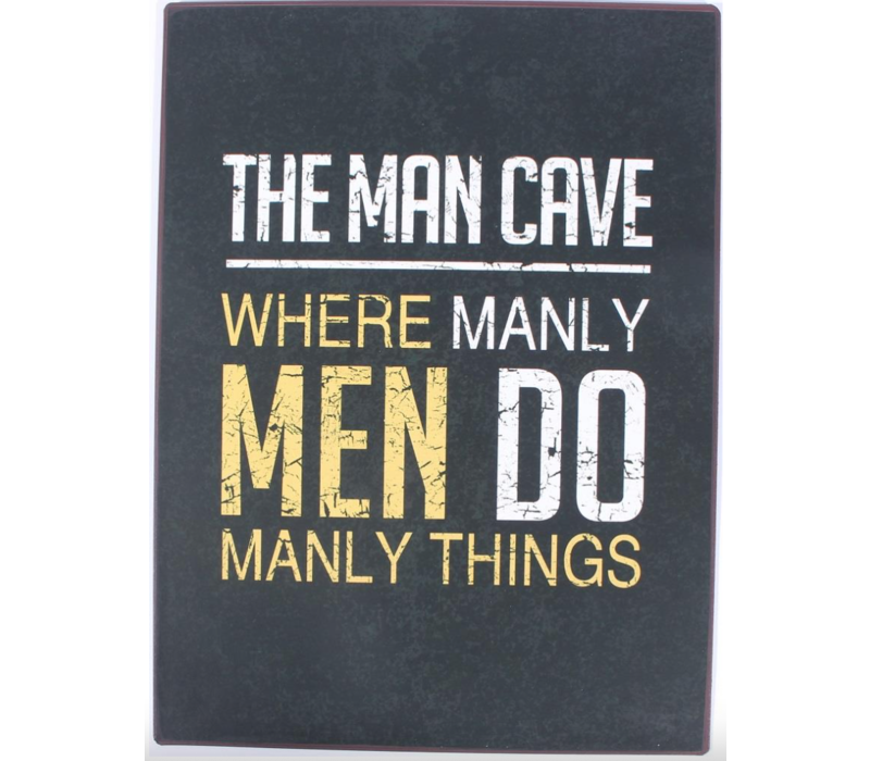 The man cave where manly men do manly things