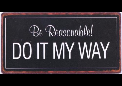 DO IT MY WAY