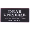 Dear universe, I am totally open to some awesome coming my way