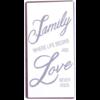Family. Where life begins, love never ends