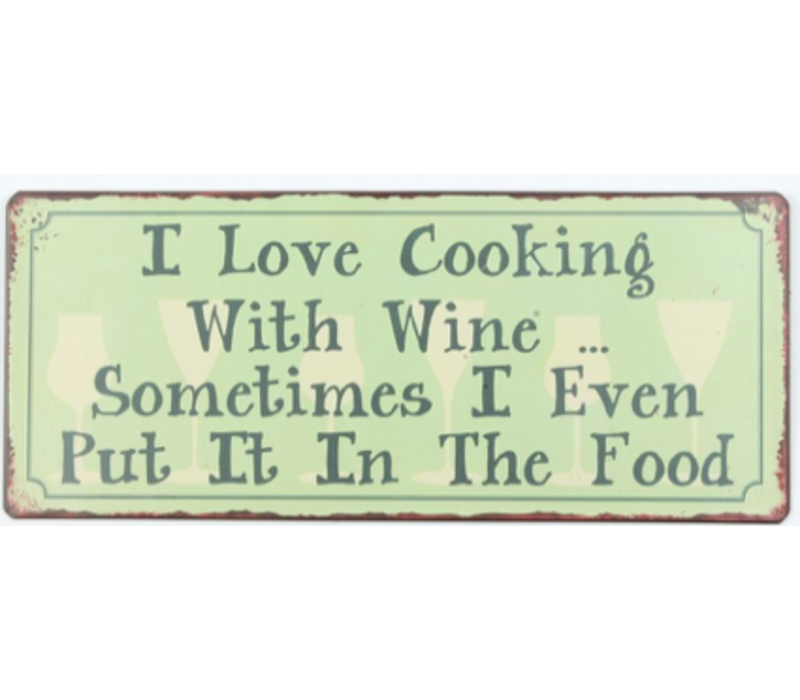 I love cooking with wine... Sometimes I even put it in the food