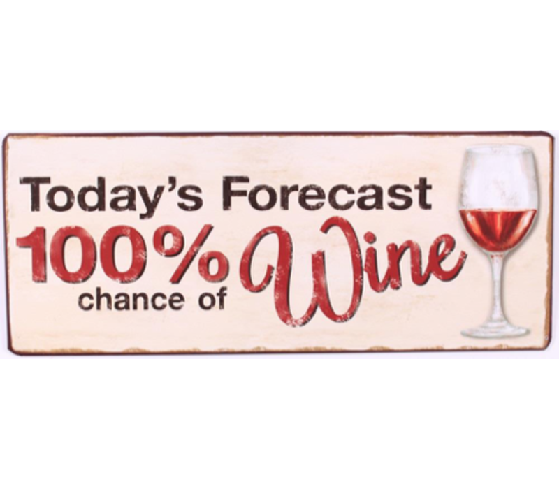 Today's forecast 100% chance of wine