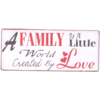 A family is a little world created by love